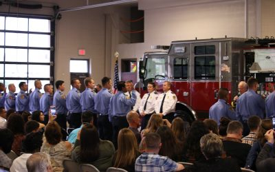Largest Ever Spring Firefighter Class Receive Badges
