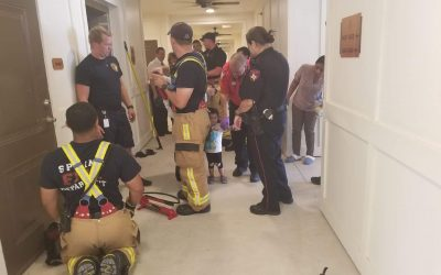 Spring Fire Rescues Child Trapped in Elevator Door